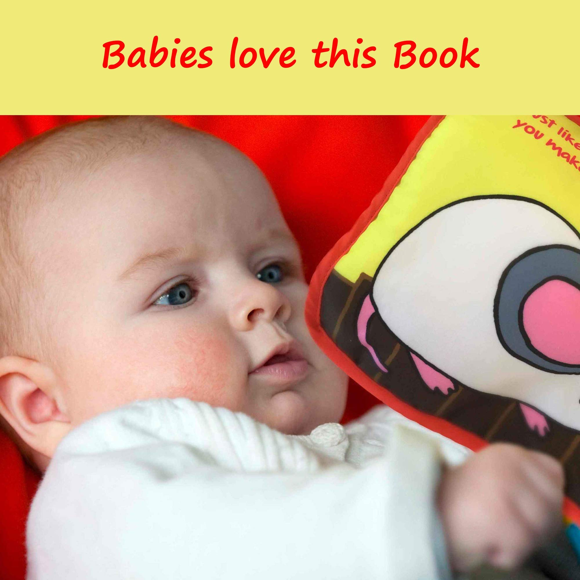 Premium Baby Book First Year Cloth Book Baby Gift Fun Interactive Soft Book For Babies Infants Boys Girls With Crinkly Sounds Developmental Toy Cute Baby Shower Box Touch And Feel Peekaboo